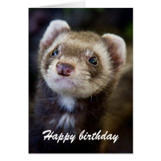 Cumpleaños del hurón tarjeta
