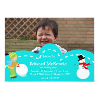 Cumpleaños del invierno invitación 12,7 x 17,8 cm