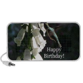 Cumpleaños del jardín del colibrí feliz portátil altavoces