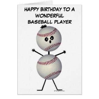 Cumpleaños del jugador de béisbol tarjetón