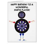 Cumpleaños del jugador de dardos tarjetas