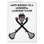 Cumpleaños del jugador de LaCrosse Felicitaciones