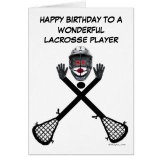 Cumpleaños del jugador de LaCrosse Tarjeta De Felicitación