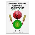 Cumpleaños del jugador del grillo tarjetón