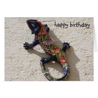 cumpleaños del lagarto tarjeta pequeña
