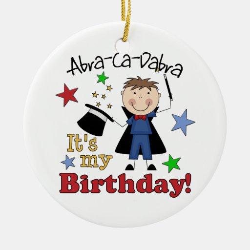 Cumpleaños del mago de los niños ornamente de reyes