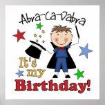 Cumpleaños del mago de los niños impresiones