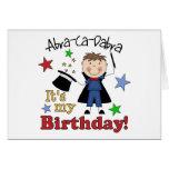 Cumpleaños del mago de los niños tarjetón