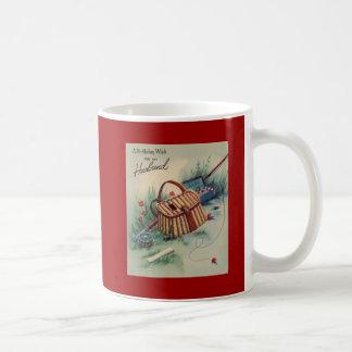 Cumpleaños del marido de la pesca con mosca taza de café