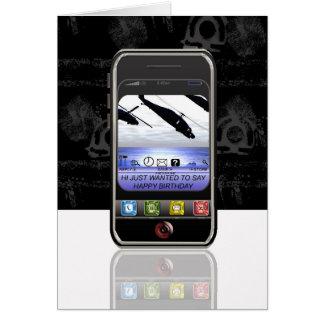 cumpleaños del mensaje de texto del teléfono móvil tarjeta de felicitación