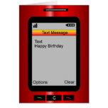 Cumpleaños del mensaje de texto feliz felicitaciones