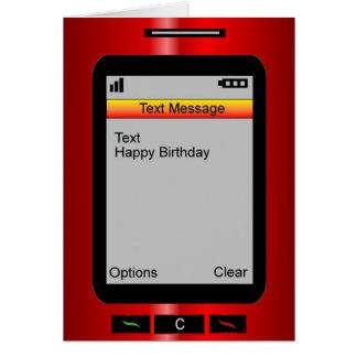Cumpleaños del mensaje de texto feliz tarjeta de felicitación