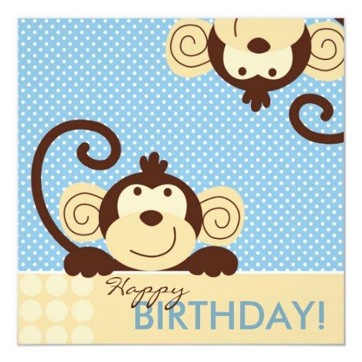 Cumpleaños del mono de la MOD Invitación
