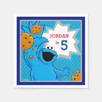 Cumpleaños del monstruo de la galleta servilletas de papel