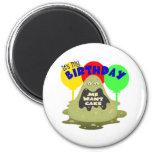 Cumpleaños del monstruo de los niños imán para frigorifico