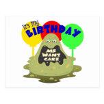 Cumpleaños del monstruo de los niños postal