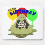 Cumpleaños del monstruo de los niños alfombrillas de ratón