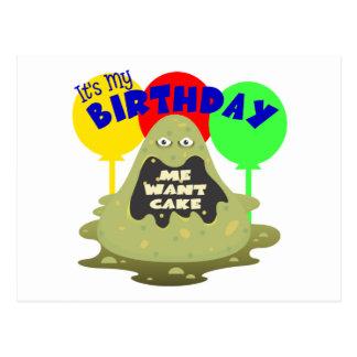 Cumpleaños del monstruo de los niños tarjetas postales