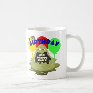 Cumpleaños del monstruo de los niños tazas