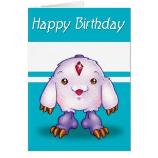 Cumpleaños del monstruo de Manga feliz Tarjeta De Felicitación