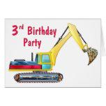 Cumpleaños del motor de la tierra 3ro tarjetas