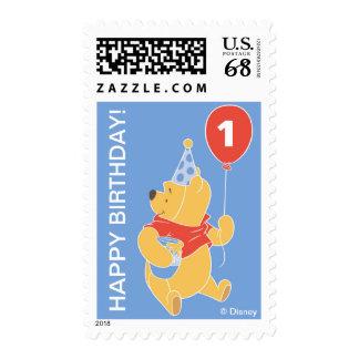 Cumpleaños del muchacho de bebé de Winnie the Pooh Estampillas