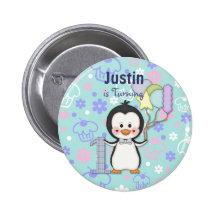 Cumpleaños del muchacho de Cutie- del pingüino pri
