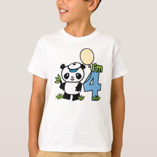 Cumpleaños del muchacho de la panda 4to playera
