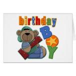 Cumpleaños del muchacho del cumpleaños 1r tarjeton