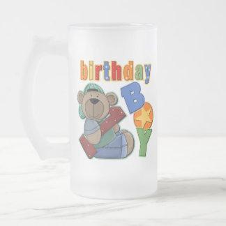 Cumpleaños del muchacho del cumpleaños 1r taza de cristal