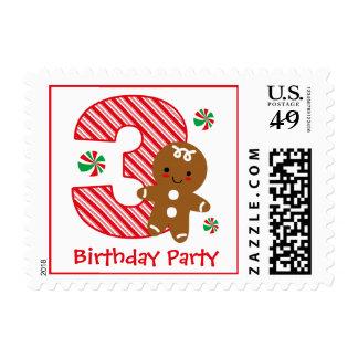 Cumpleaños del muchacho del pan de jengibre 3ro