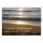Cumpleaños del negocio de las ondas feliz de la ta felicitacion