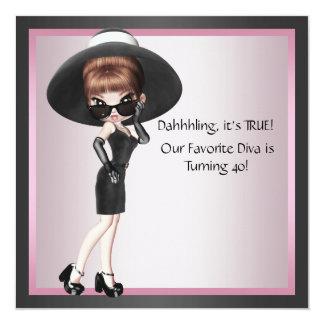 Cumpleaños del negro rosado de la mujer preferida anuncio