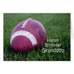 Cumpleaños del nieto del fútbol tarjetas