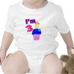 """Cumpleaños del niño """"soy 3""""---Diseño adorable de l Camiseta"""