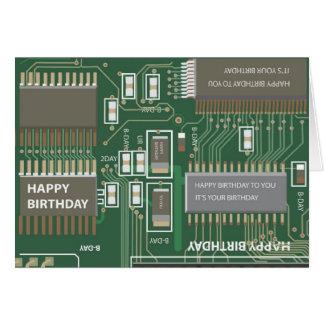 cumpleaños del ordenador tarjeta de felicitación
