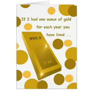 Cumpleaños del oro viejo humor tarjeta