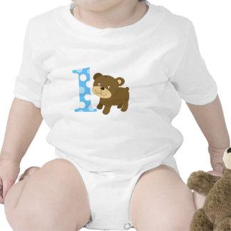 Cumpleaños del oso de Brown 1r soy UN mono Trajes De Bebé