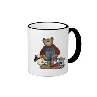 Cumpleaños del oso de peluche 1r taza
