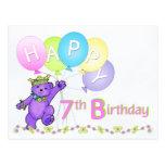Cumpleaños del oso de peluche del baile 7mo postales