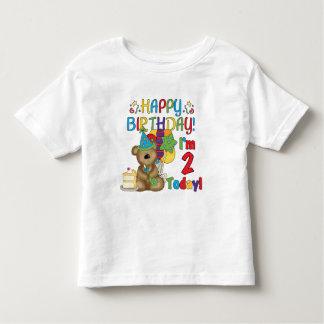 Cumpleaños del oso de peluche del feliz cumpleaños playera de bebé