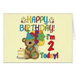 Cumpleaños del oso de peluche del feliz cumpleaños felicitacion