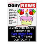 Cumpleaños del periódico felicitaciones