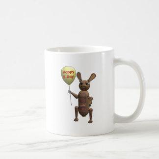 Cumpleaños del perrito caliente del robot feliz taza clásica