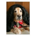 Cumpleaños del perro del rock-and-roll del golden  felicitacion
