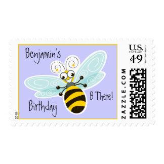 Cumpleaños del personalizado del _de la abeja de franqueo