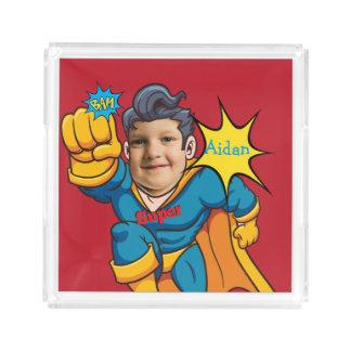 Cumpleaños del personalizado del niño del super