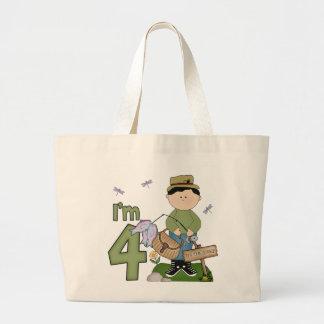 Cumpleaños del pescador de Lil 4to Bolsa Tela Grande