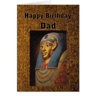 Cumpleaños del Pharaoh del papá feliz Tarjeta De Felicitación