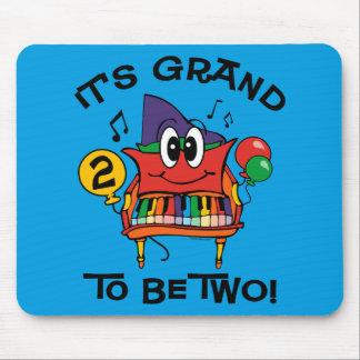 Cumpleaños del piano de piano de media cola 2do alfombrillas de ratones